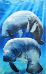 Beach Towel Manatees and Baby