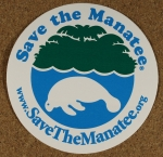 Save the Manatee Decal